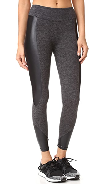 KORAL ACTIVEWEAR Curve Crop Leggings - Dark Heather Grey/Black