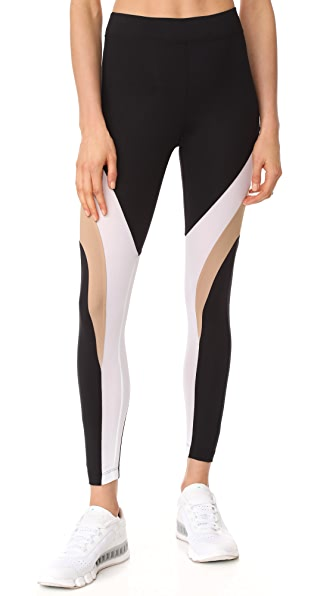 KORAL ACTIVEWEAR Formation Frame Leggings - Black/Bisque