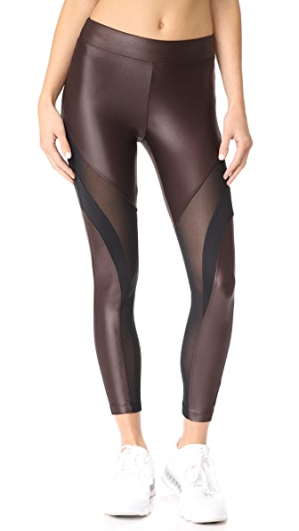KORAL ACTIVEWEAR Frame Leggings - Chocolate/Black
