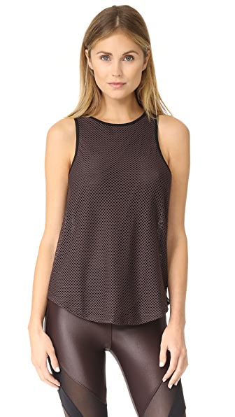 KORAL ACTIVEWEAR Agitate Peak Tank - Chocolate/Black