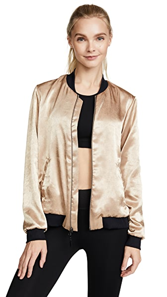 KORAL ACTIVEWEAR Base Bomber Jacket In Aurum/Black