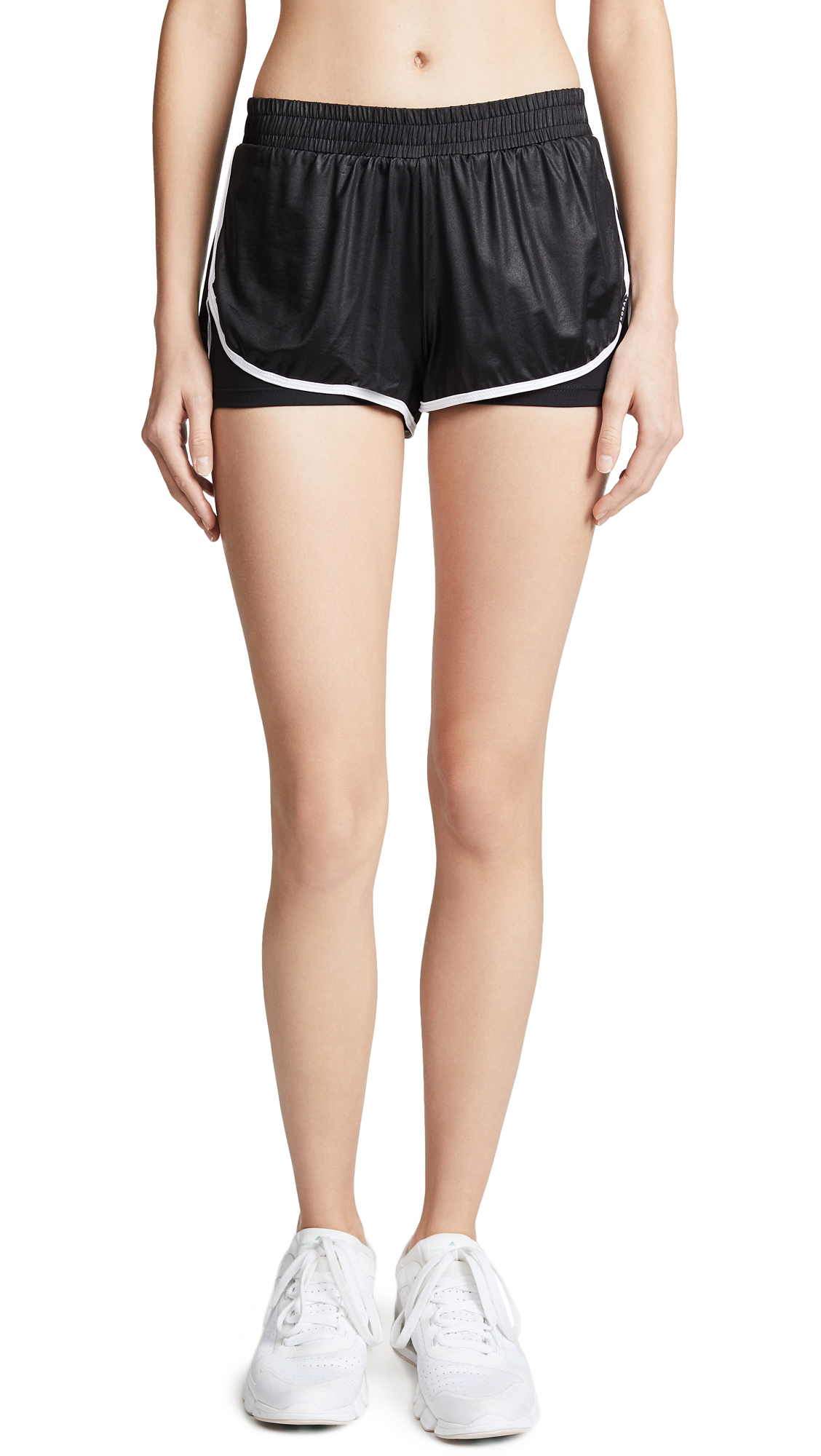 KORAL ACTIVEWEAR Scout Shorts In Black/White