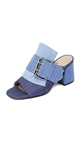 Kalda Jones Buckle Mules - Multi