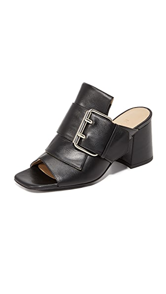 Kalda Jones Buckle Mules - Black