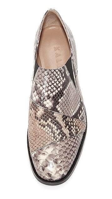 Kalda Freyja Snake Embossed Loafers