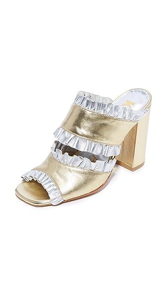 Kalda Thyri Mules - Gold/Silver