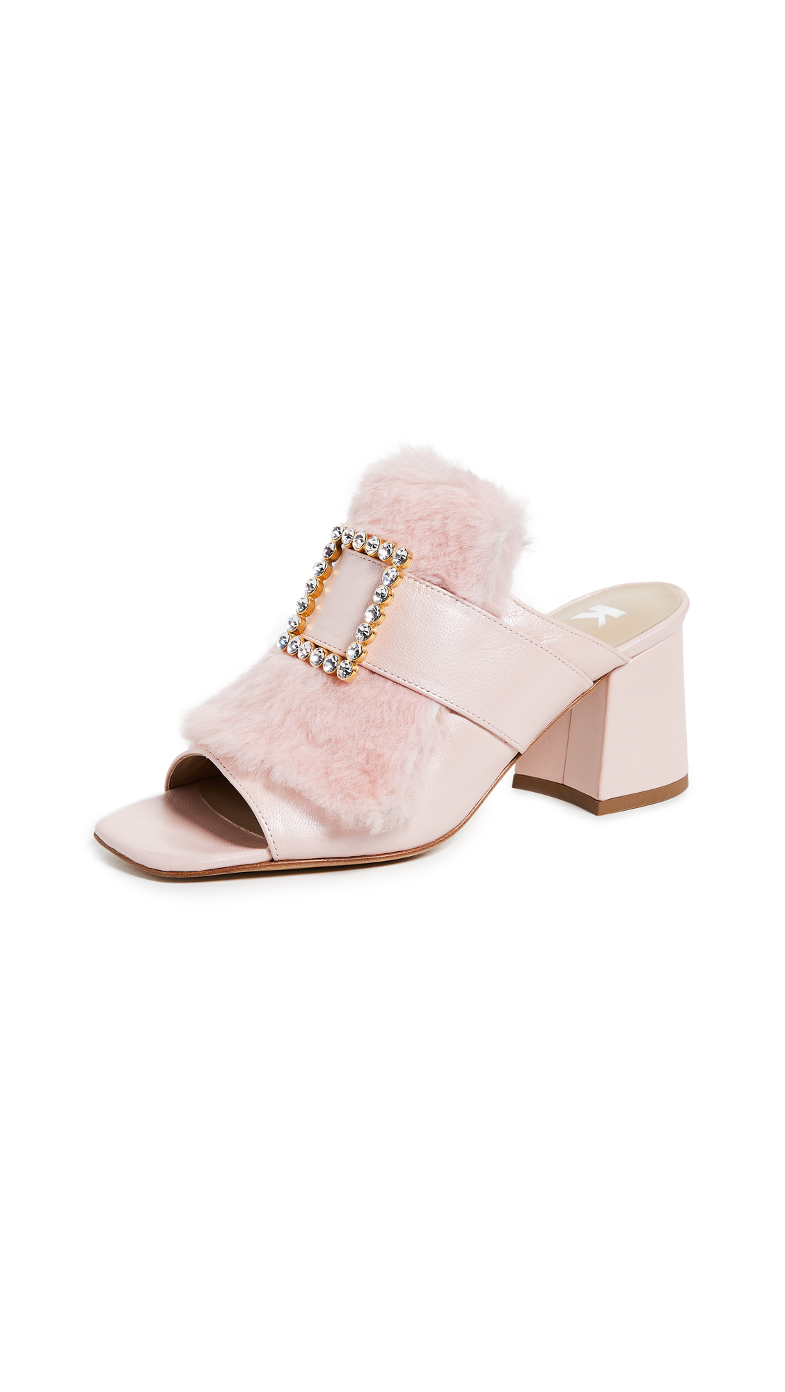 Kalda Jones Buckle Mules - Pink