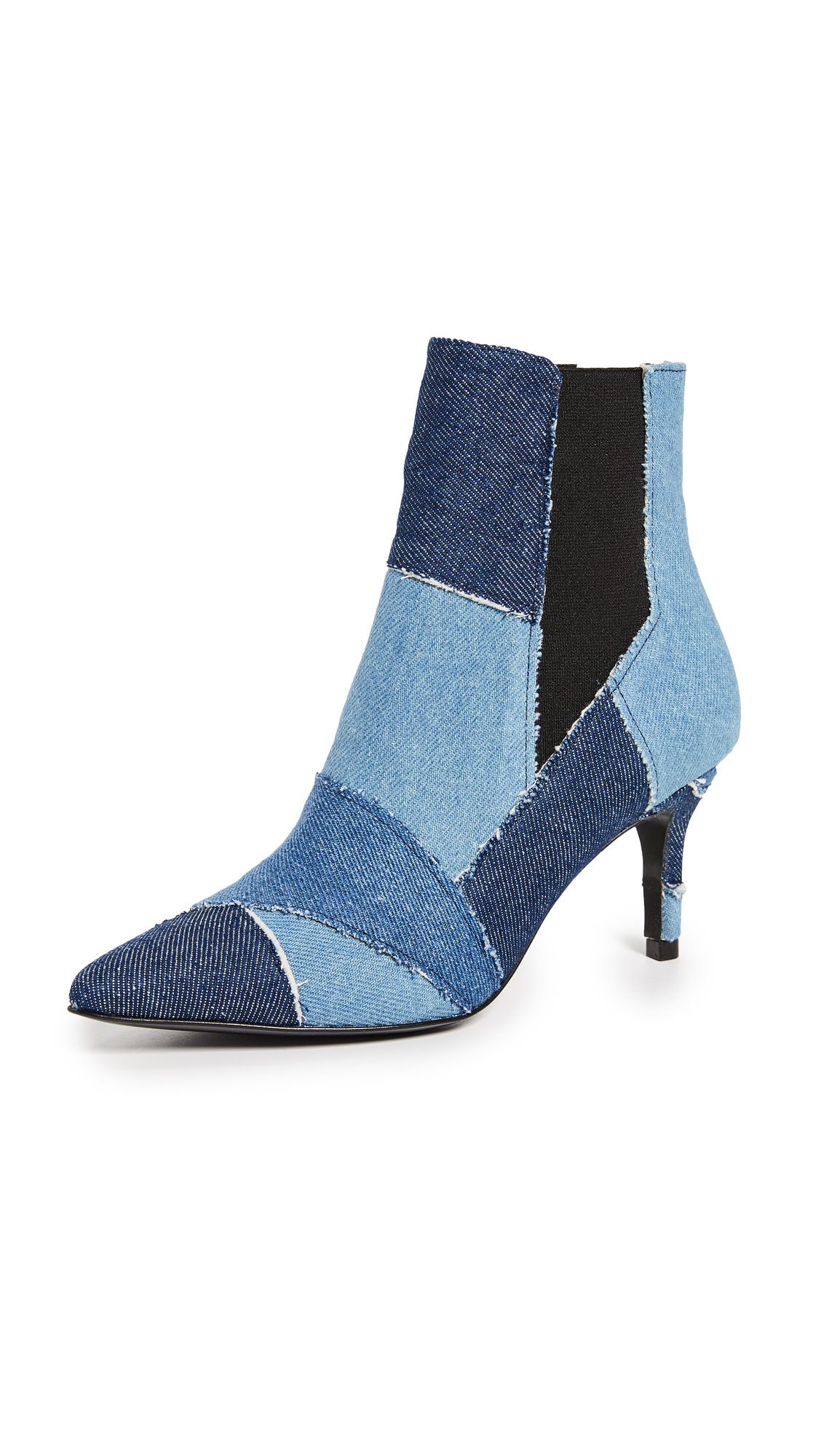 Kalda Caro Patchwork Booties - Multi Denim