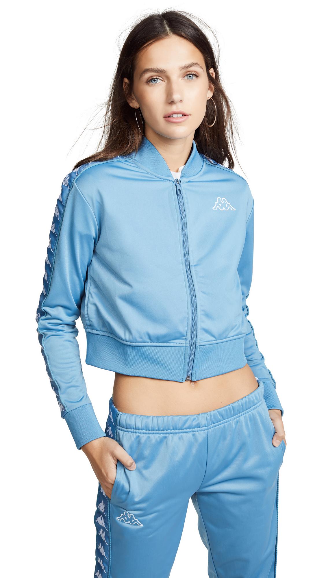 Cropped Banda Jacket, Blue Cobalt/White