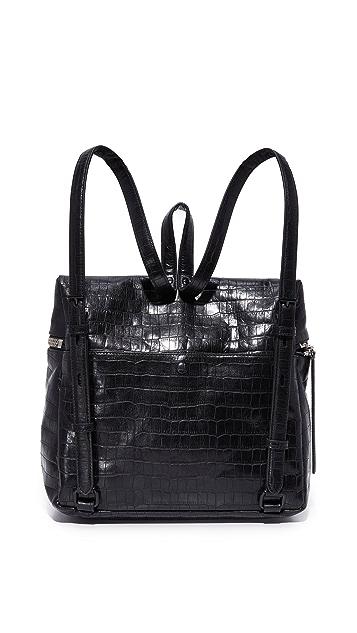 KARA Croc Embossed Backpack