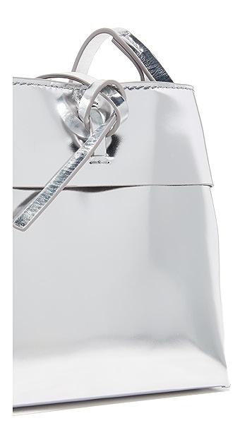 KARA Mirrored Nano Tie Cross Body Bag