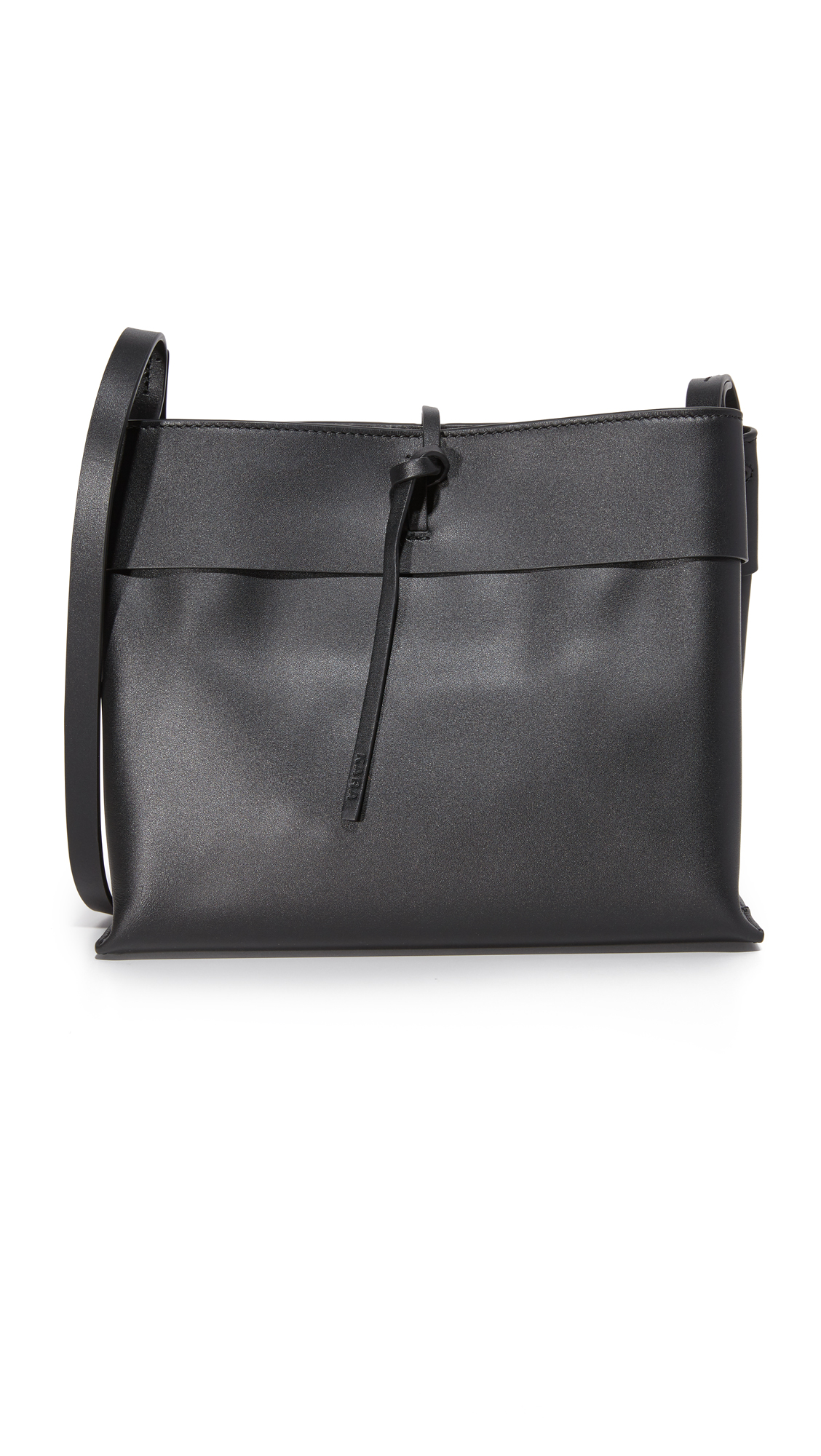 KARA Tie Cross Body Bag - Black