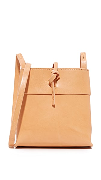 KARA Nano Tie Cross Body Bag - Nude