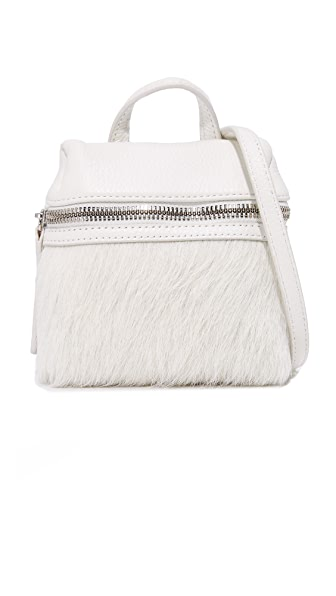 KARA Haircalf Micro Satchel - Off White