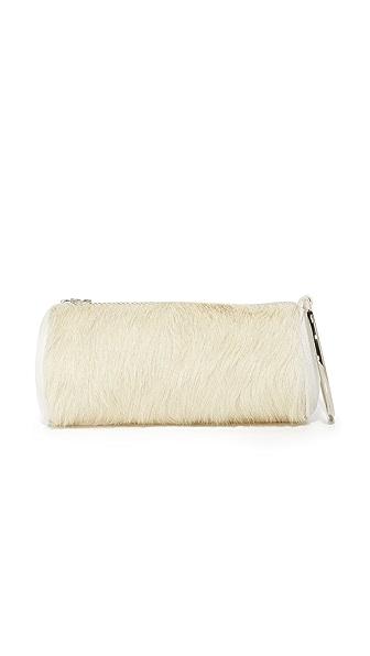 KARA Haircalf Duffel Wristlet - Off White