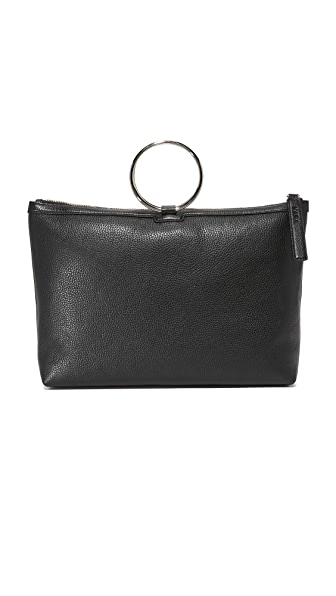 KARA Large Ring Pouch - Black