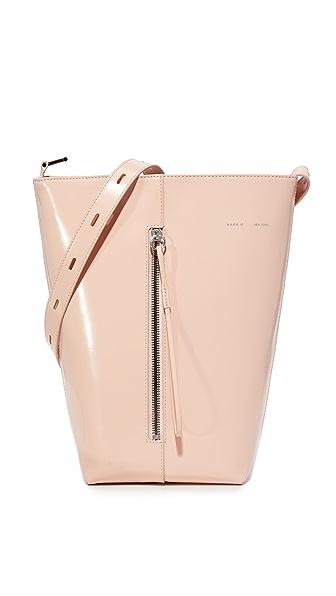 KARA Polished Panel Bucket Bag - Pink