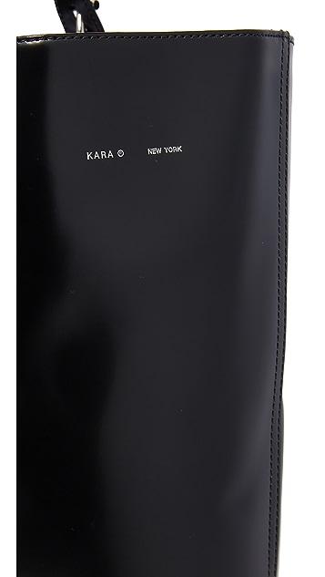 KARA Large Polished Panel Tote