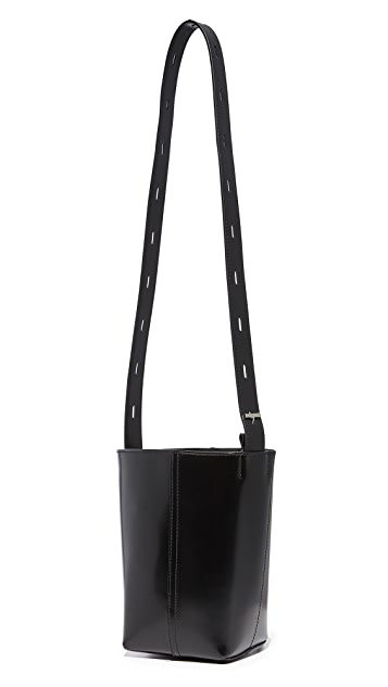KARA Polished Panel Pail Bag