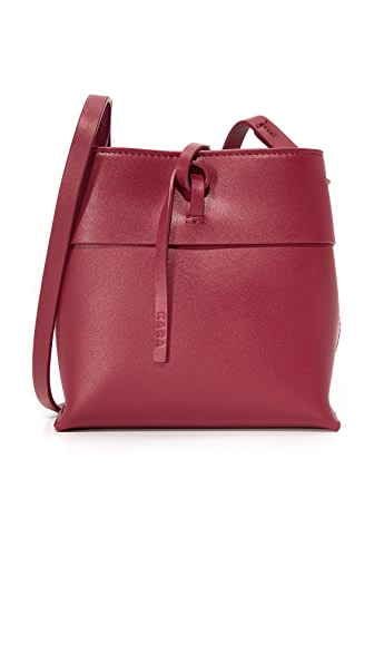 KARA Nano Tie Cross Body Bag - Tibetan Red