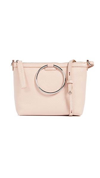 KARA Ring Cross Body Bag In Rose