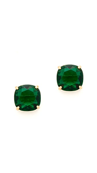 Kate Spade New York Small Square Stud Earrings - Emerald