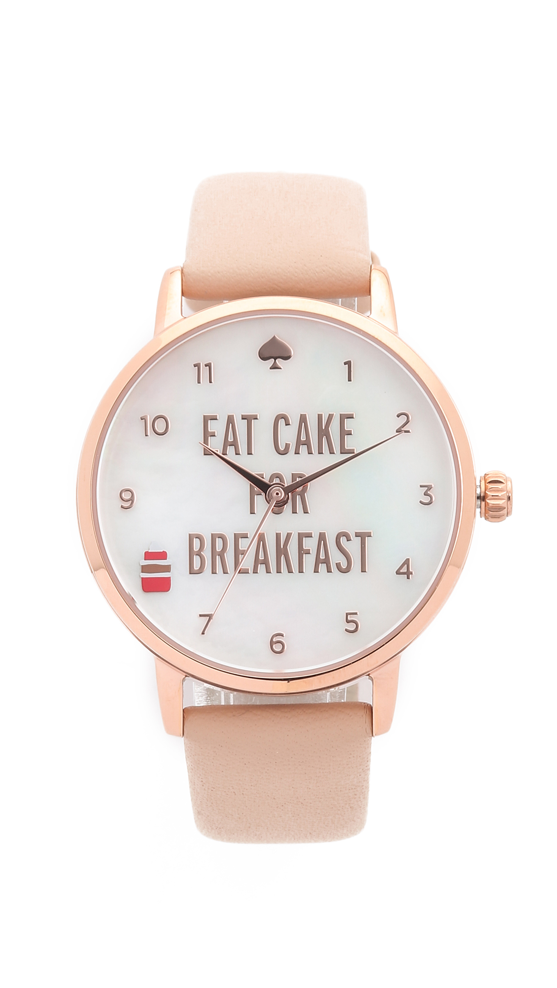Kate Spade New York Metro Eat Cake For Breakfest Watch - Vachetta/Rose Gold at Shopbop