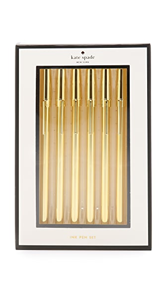 Kate Spade New York Strike Pen Set - Gold