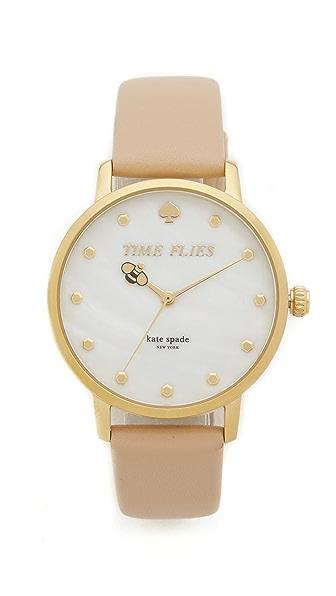 Kate Spade New York Metro Watch - Tan/Gold at Shopbop