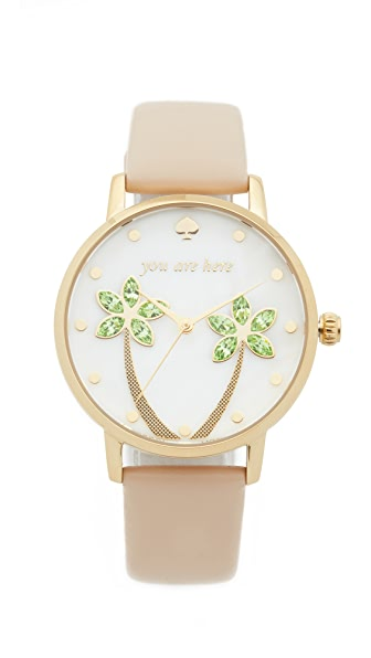 Kate Spade New York You Are Here Metro Watch - Gold/Tan at Shopbop