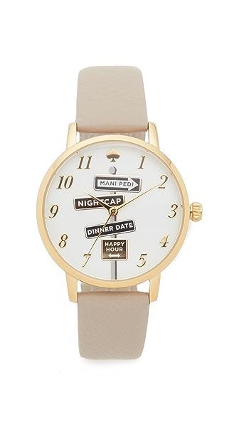Kate Spade New York Metro Watch - Gold/Grey at Shopbop