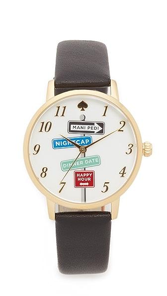 Kate Spade New York Metro Watch - Gold/Black at Shopbop