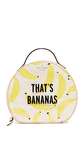 Kate Spade New York Banana Miri Cosmetic Case - Yellow Multi