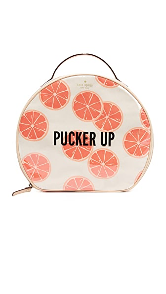 Kate Spade New York Grapefruit Patsie Cosmetic Case - Coral Sunset Multi