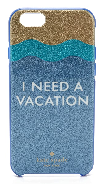 Kate Spade New York I Need a Vacation Glitter iPhone 6 / 6s Case