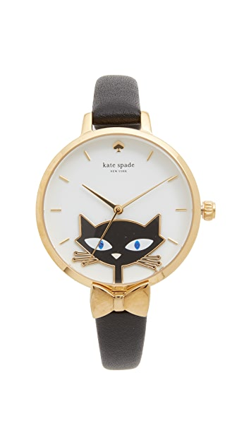 Kate Spade New York Black Cat Watch