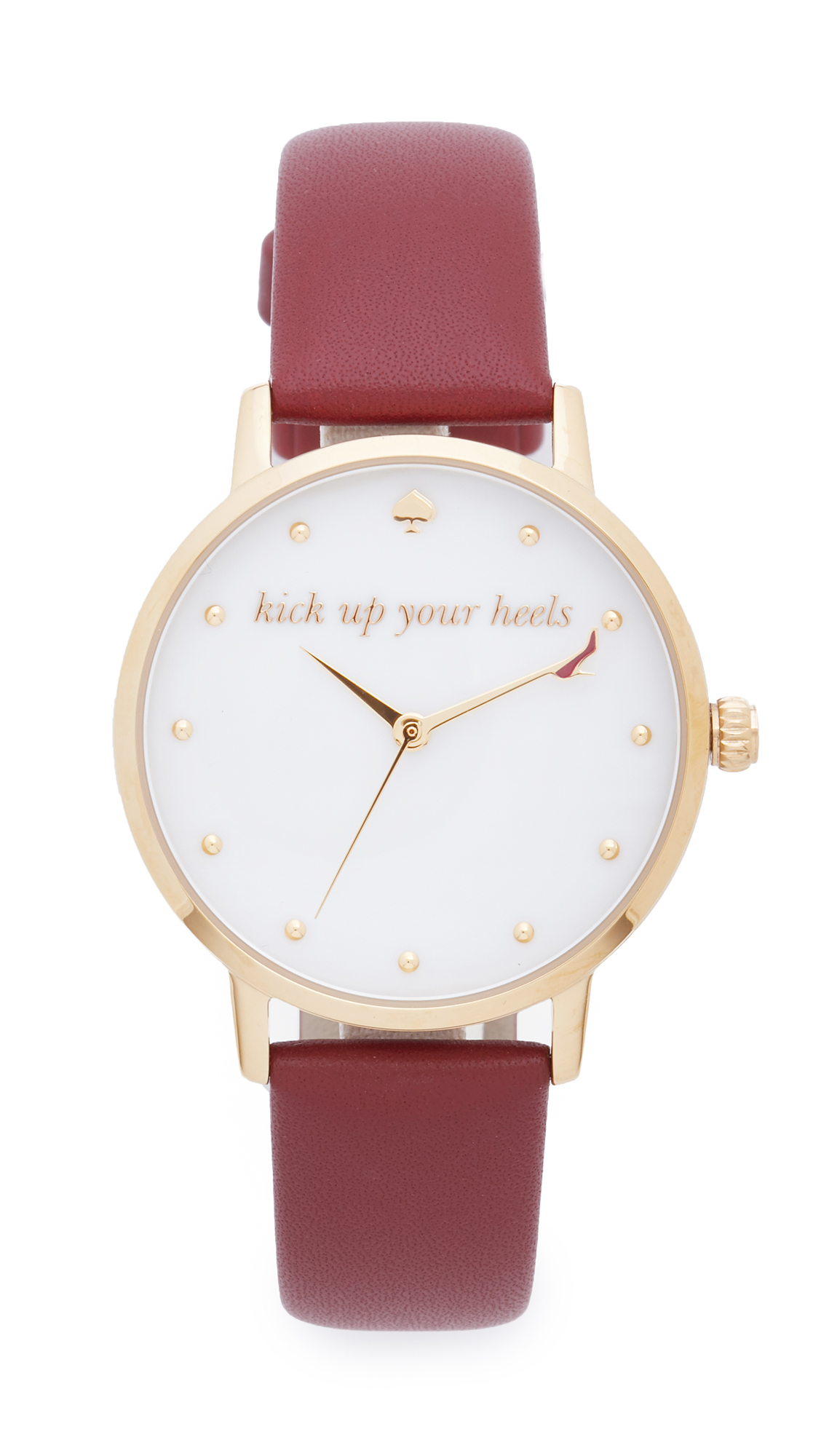 Kate Spade New York Metro Kick Up Your Heels Watch - Gold at Shopbop
