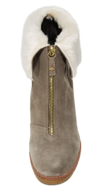 Kate Spade New York Stasia Faux Fur Zip Booties