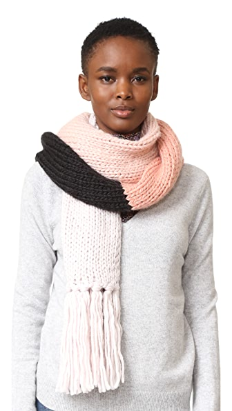 Kate Spade New York Chunky Knit Colorblock Muffler