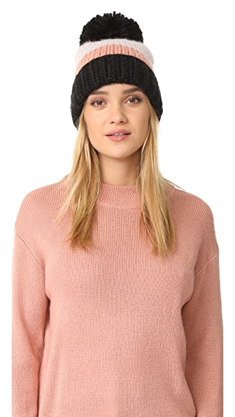 Kate Spade New York Chunky Knit Colorblock Beanie