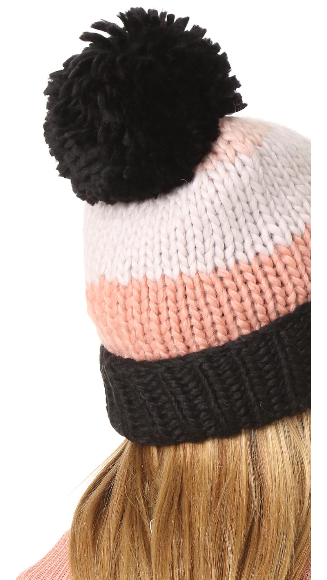 Kate Spade New York Chunky Knit Colorblock Beanie  5a4b03f9254