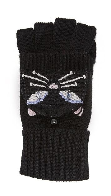 Kate Spade New York Cat Pop Top Mittens