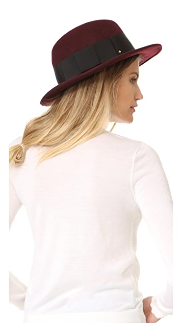 Kate Spade New York Fedora with Grosgrain Bow