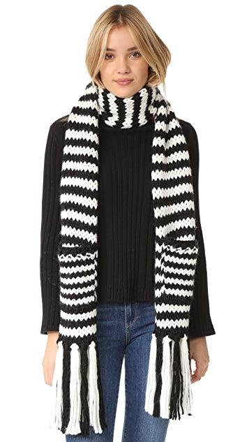 Kate Spade New York Chunky Stripe Muffler