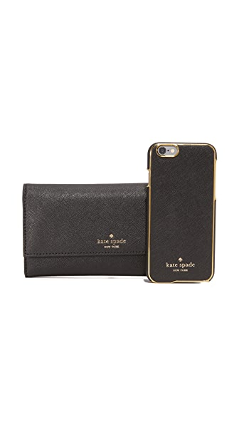 Kate Spade New York Leather Iphone 6 / 6S Phone Wallet - Black at Shopbop