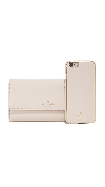 Kate Spade New York Leather Iphone 6 / 6S Phone Wallet - Crisp Linen at Shopbop