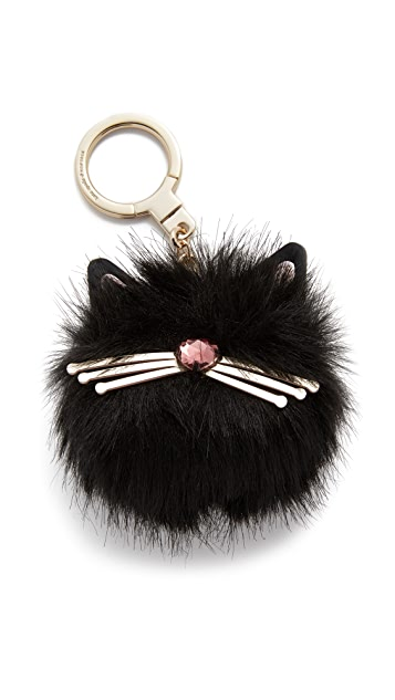 Kate Spade New York Cat Pouf Keychain