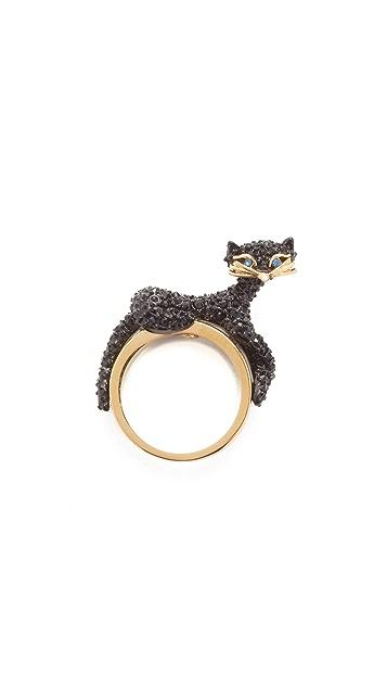 Kate Spade New York Jazz Things Up Pave Cat Ring