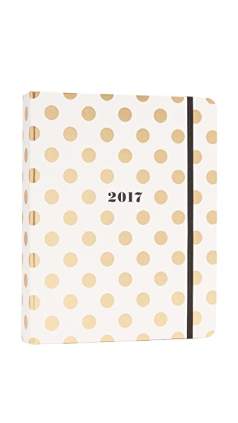 Kate Spade New York Gold Dots Large Agenda
