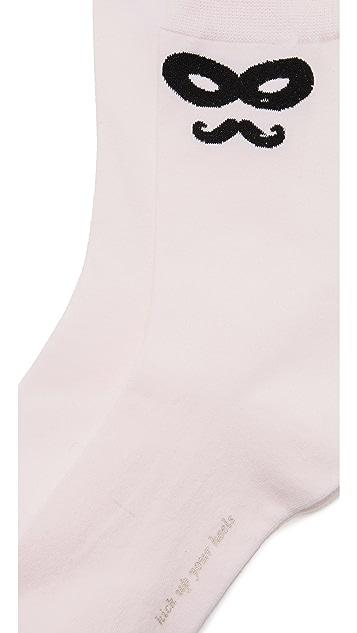 Kate Spade New York Novelty Mask Socks